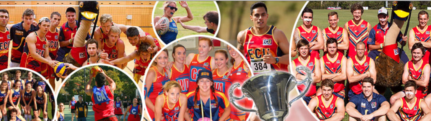image of various sport and fitness clubs at ECU